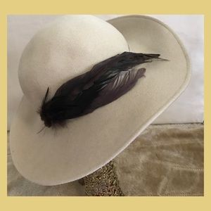 Classic feathered hat